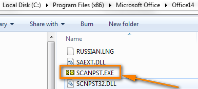 Find Scanpst.exe on your computer and double click on it.
