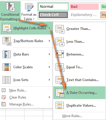 Excel Conditional Formatting For Dates Amp Time Formula Examples And Rules
