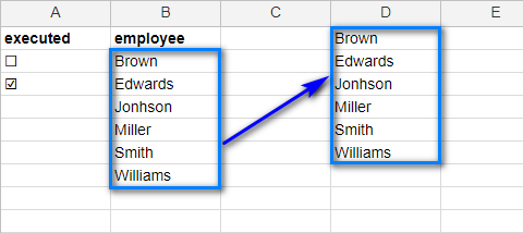 Copy the values to additional column
