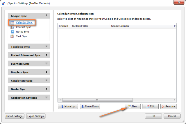 Configuring Outlook and Google calendar syncing with gSyncit