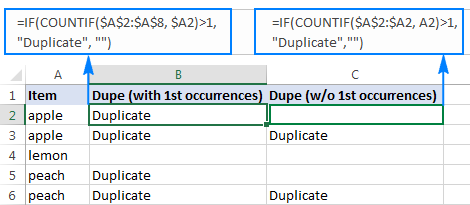 Duplicates with 1st occurrences vs. duplicates without 1st occurrences