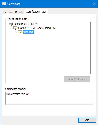 4Bits Ltd. Certificate