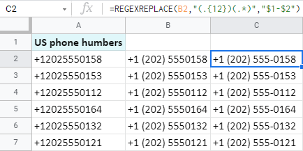 Add text in Google Sheets after the N-th character.