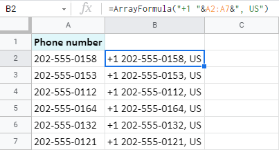 Insert characters at the beginning and the end of all Google Sheets cells at once.