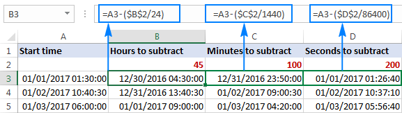 How to add & subtract time in Excel to show over 24 hours