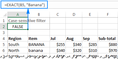 How to use Advanced Filter in Excel - criteria range
