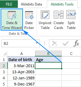 Date & Time Wizard for Excel