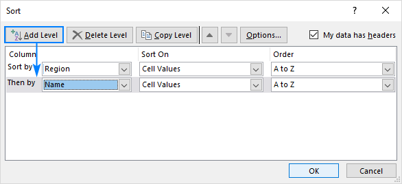 How to alphabetize in Excel: sort alphabetically columns and