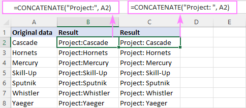 Adding text to the beginning of cells