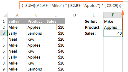 Array formulas and functions in Excel - examples and guidelines