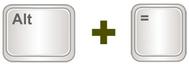 Excel AutoSum keyboard shortcut