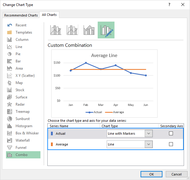 how to add a line in excel graph  average line  benchmark