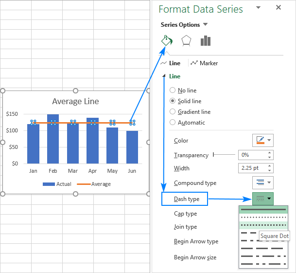 How To Add A Line In Excel Graph Average Line Benchmark Etc