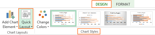 Choose the bar graph layout and style