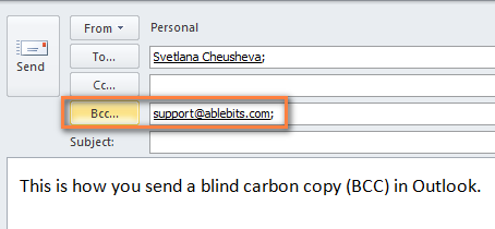 Add the recipient names to the Bcc box.