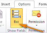 Enabling Bcc in Outlook 2010
