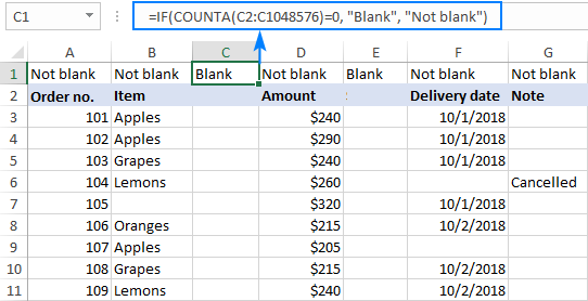 How to remove blank columns in Excel