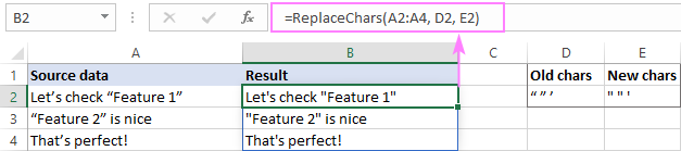 LAMBDA function to replace multiple characters