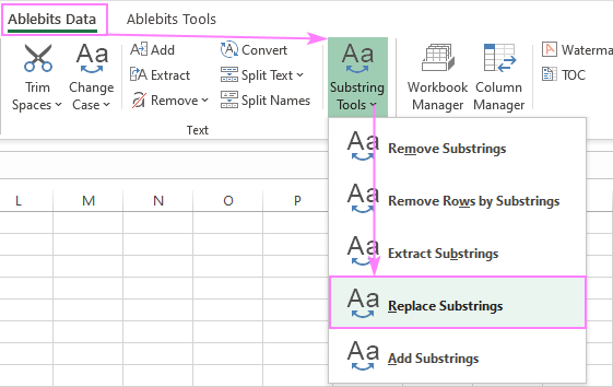 Replace Substrings in Excel