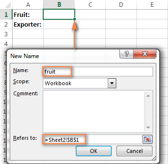 Create a name for the cell containing the primary drop-down list.