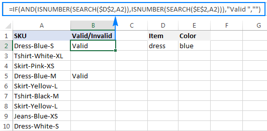 'If cell contains' formula with AND logic