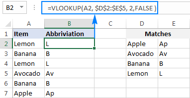 Vlookup formula to return different matches
