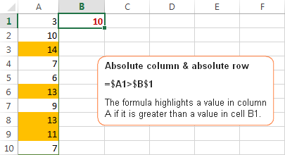 Excel cell references - relative & absolute references in ...