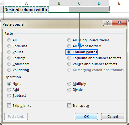 How to change and AutoFit column width in Excel