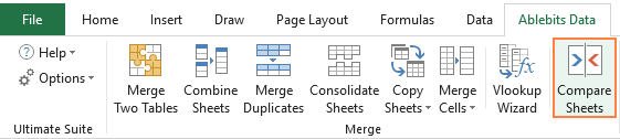 Ablebits Compare Sheets Wizard for Excel