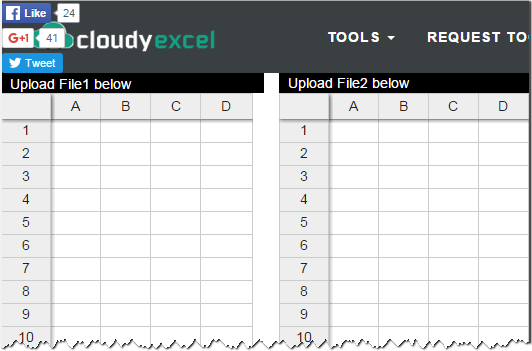 Online service to compare Excel files