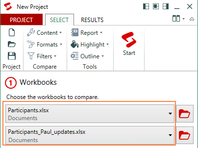 Worksheet Excel 2010 Compare Worksheets how to compare two excel files or sheets for differences select 2 workbooks compare