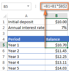 Interest Rate Excel Formula & Functions for Personal Finance