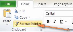 Copy conditional formatting in Excel.