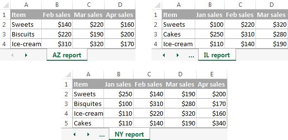 {Consolidate in Excel Merge multiple sheets into one – Merge Data from Multiple Worksheets