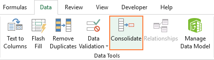 Run the Excel Consolidate feature.