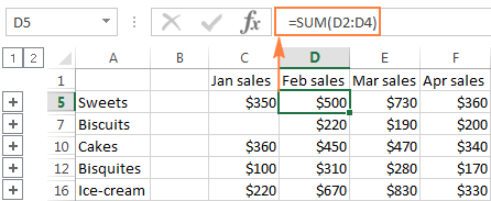 Consolidate in Excel: Merge multiple sheets into one