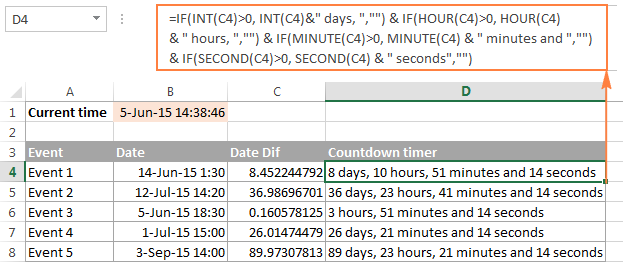 The formula to spell time in Excel excluding zero values