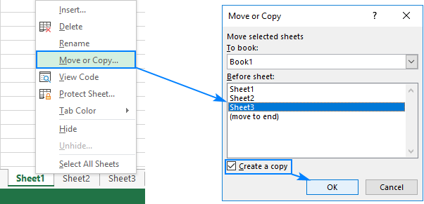 Duplicate a sheet by right-clicking it.