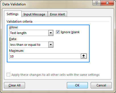Allow data entry of a specific length.