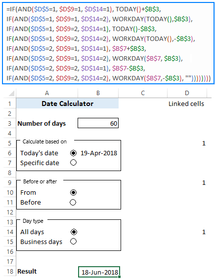 Date Calculator in Excel