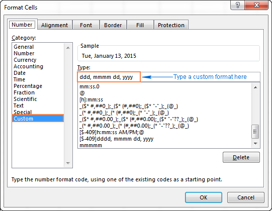 How to change Excel date format and create custom formatting
