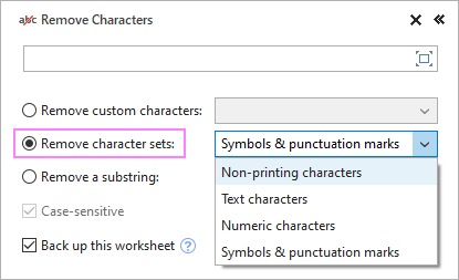 Delete a predefined character set.