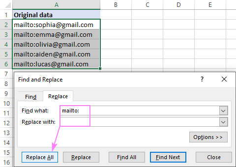 Deleting specific text from multiple cells