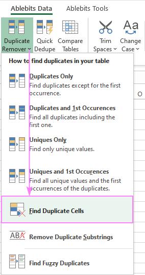 Find Duplicate Cells for Excel