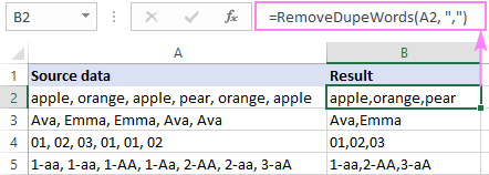 Removing repeated words separated by commas