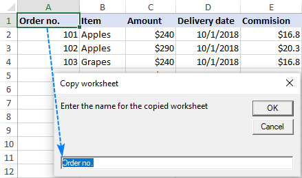 How to duplicate a sheet in Excel with VBA