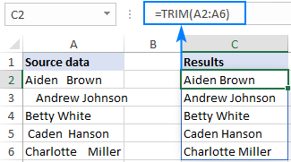 Existing Excel functions support dynamic arrays
