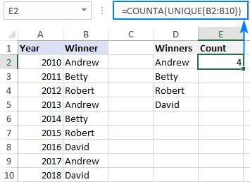 Using new Excel dynamic array functions together with existing ones