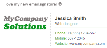 Sample the color palette from the graphic element included in your email signature.
