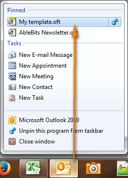 Create email templates in outlook 2016 2013 for new messages you can pin several templates that you use most often pronofoot35fo Choice Image